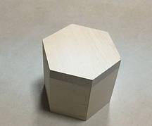 Шкатулка куфр. Шестиугольная. 8см (Заготовка)