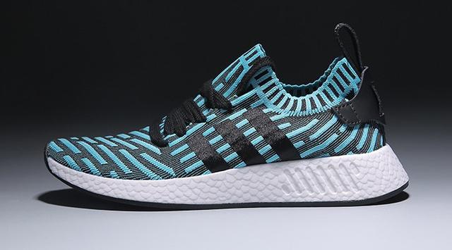 Женские кроссовки Adidas NMD V4 (light blue/black) - 17w оригинал