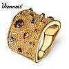"Viennois коктейльное кольцо  ""Шампань"" Размер 17.5"