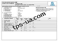 Регулировочные данные  Motorpal  4201