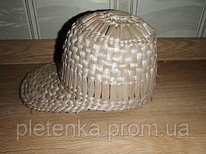 Кепка плетенная из рогозы.  L / 57-58 RU Бежевый