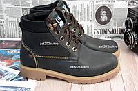 Кожаные, добротные, теплые ботинки в стиле Timberland Мегакачество 35-39