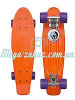 Скейтборд/скейт Penny Board (Пенні борд фіш) Fishskateboards: помаранчевий, фіолетовий, до 80кг