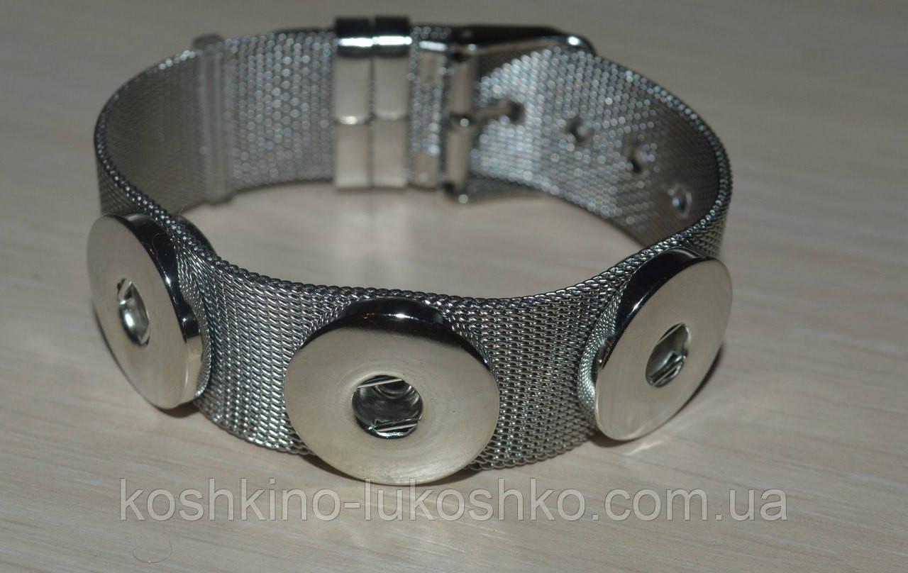 гнучкий браслет з нержавіючої сталі на 3 кнопки