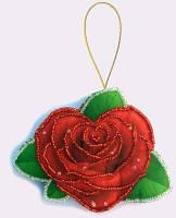 Игрушка из фетра Роза