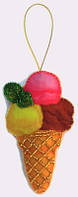 Игрушка из фетра Мороженое