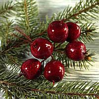 Яблочки  новогодние (пучек 6 шт)