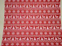 Декоративная ткань-мешковина красная 90 см