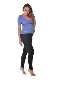 Теплые леггинсы для беременных черные