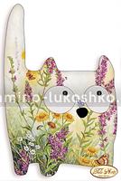 Подушка для вышивки бисером Очень дикий кот