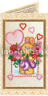 Набор для вышивки бисером открытка Солнечный зайчик