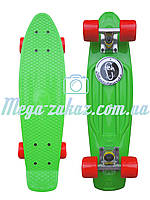 Скейтборд/скейт Penny Board (Пенни борд фиш) Fishskateboards: салатовый, до 80кг