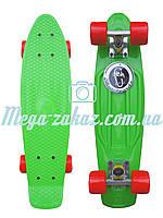 Скейтборд/скейт Penny Board (Пенні борд фіш) Fishskateboards: білий/червоний, до 80кг