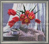 Набор для вышивки бисером Ваза с тюльпанами