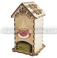 Набор-конструктор Чайный домик с чашкой (с бисером)