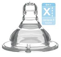 Соска для бутылок с широким горлышком – поток X очень быстрый (возраст 6m+) BabyOno 1207