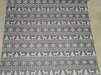 Декоративная ткань-мешковина серая 90 см