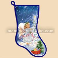 Схема для вышивки бисером Новогодний сапожок ''Ангел''