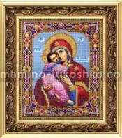 Набор для вышивки бисером Икона Божьей Матери Владимирская