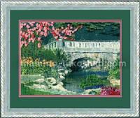 Набор для частичной вышивки крестом Весенний мостик
