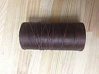 Нитка вощёная, плетенная, плоская, коричневого цвета, толщина - 1 мм, артикул СК 5087