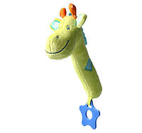 "Игрушка-пищалка с прорезывателем ""Жираф"" (возраст 0m+) BabyOno 997"