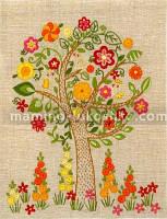 Набор для вышивки нитками Цветущее дерево