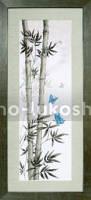 Набор для вышивки крестом Мотыльки в стеблях бамбука