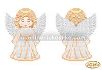 Схема для вышивки бисером Ангелочек в золотом