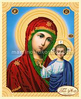 Схема для вышивки бисером иконы Божья Матерь Казанская