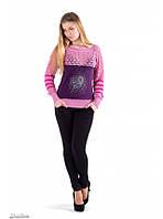Джемпер женский, нарядный, ажурный, розовый, фиолетовый, серый, коричневый