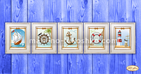 Схемы для вышивки бисером Морская коллекция миниатюр (набор)