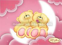 Схема для вышивки бисером Влюбленные мишки