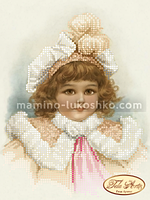 Схема для вышивки бисером Серьезная Маргарет