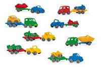 Машинка wader 52600 kid cars sport с прицепом
