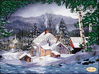 Схема для вышивки бисером Рождественский вечер