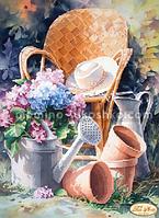 Схема для вышивки бисером Садовая романтика