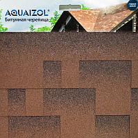 ОПТ - Акваизол Акцент ЭКО коричневый Битумная черепица (3 м2/уп) (только Харьков)