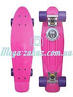 Скейтборд/скейт Penny Board (Пенни борд фиш) Fishskateboards: розовый, до 80кг