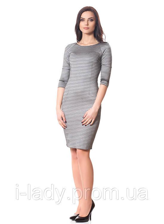 fb617198656 Купить Повседневное женское платье классическое полосатое с длинным ...