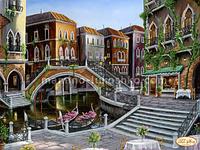 Схема для вышивки бисером Венецианскими улочками