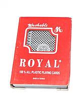 """Карты """"Royalty"""" 100% пластик, две колоды, в пластмассовой коробке (1 сорт)"""