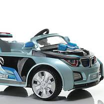 Детский электромобиль BMW HL 518 голубой на радиоуправлении, фото 3