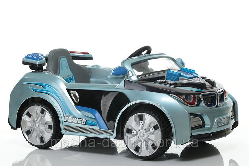 Детский электромобиль BMW HL 518 голубой на радиоуправлении