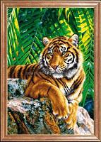 Схема для вышивки бисером Тигр отец