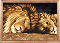 Схема для вышивки бисером Львы отдыхают