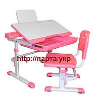 Детский стол-парта  и стул YK-18, подставка для книг, ящик