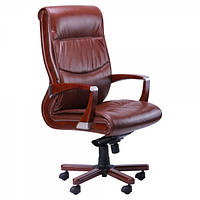 Кресло Монтана НВ, кожа коричневая (619-B+PVC)