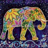 Схема для вышивки бисером Индийский слон