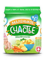 Пюре Овощной салатик, Маленькое Счастье  90 г